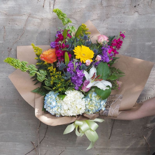 A Bushel and a Peck Wrapped Bouquet Midwood Flower Shop | Charlotte Florist Delivery Service