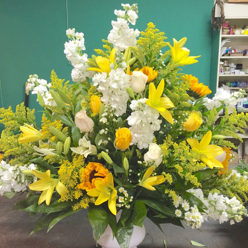 Bright Farewell Sympathy Flowers Midwood Flower Shop   Charlotte Florist Delivery Service