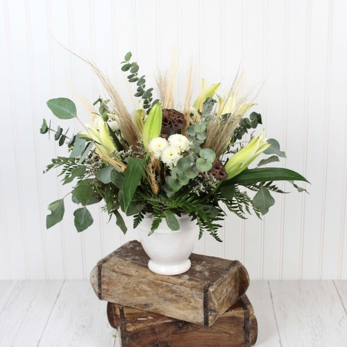 Farmhouse Fall Centerpiece Midwood Flower Shop | Charlotte Florist Delivery Service