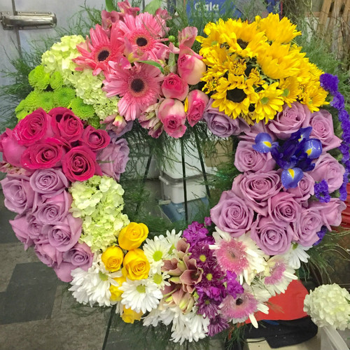 Spring Heart's Farewell Funeral Spray Sympathy Flowers Midwood Flower Shop | Charlotte Florist Delivery Service