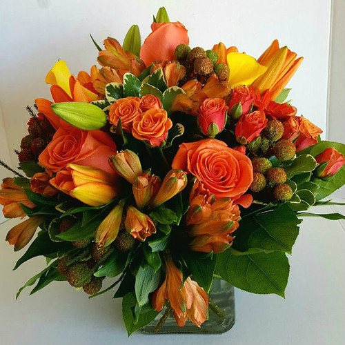 Sunset Blooms Fall Flowers Midwood Flower Shop | Charlotte Florist Delivery Service