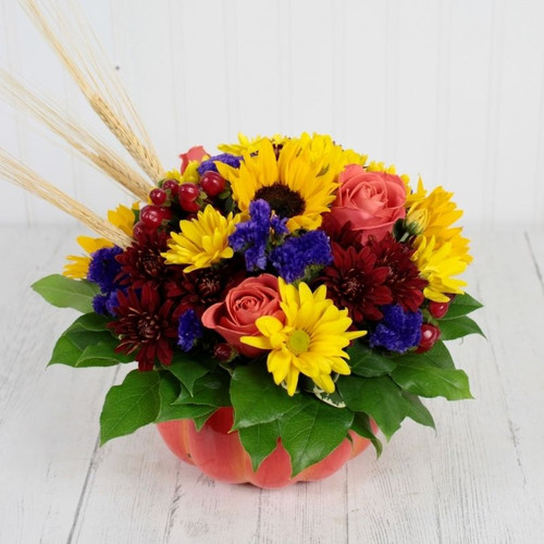Flowering Pumpkin All Flowers and Gifts Midwood Flower Shop | Charlotte Florist Delivery Service