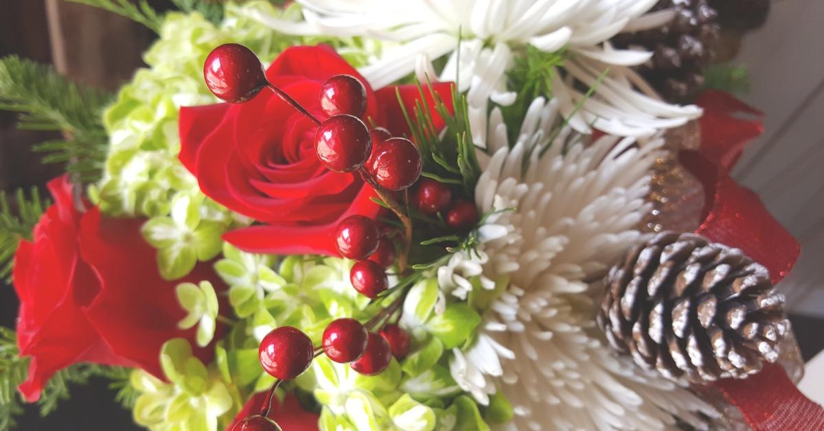 Christmas Flowers Banner