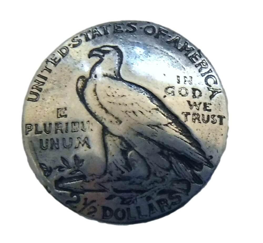 One Mexico Silver Un Peso Eagle Side Coin Concho