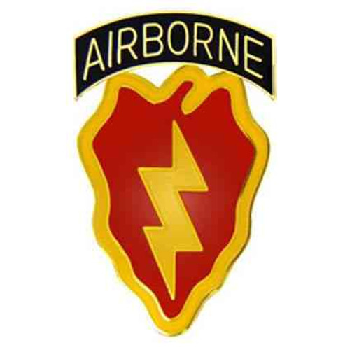 army 25th a b hat lapel pin