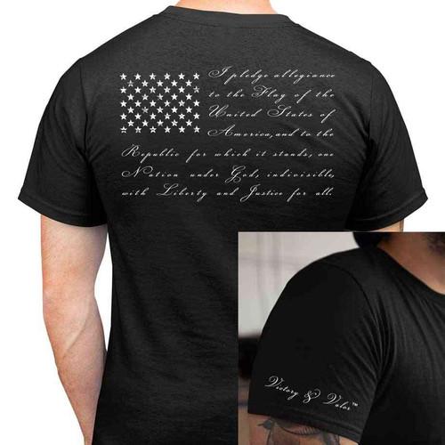 pledge allegiance tshirt victory valor