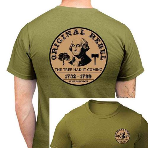 george washington original rebel tshirt