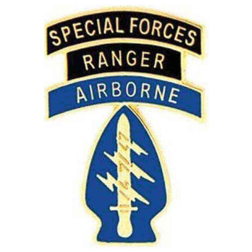 army a b ranger sf hat lapel pin