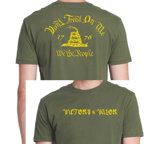 Don't Tread On Me Graphic T-Shirt with Victory & Valor