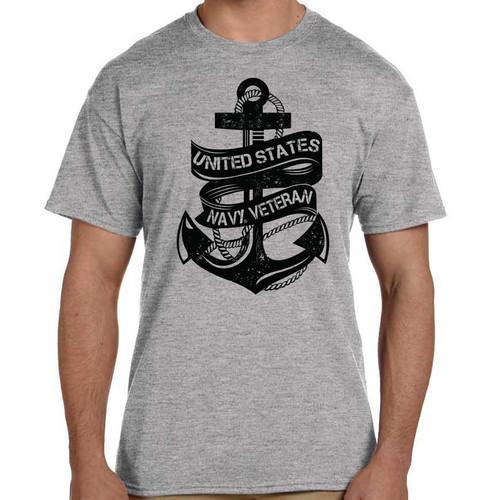 officially licensed us navy veteran tshirt anchor
