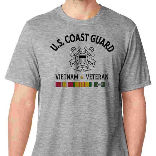 us coast guard vietnam veteran tshirt 3 ribbons
