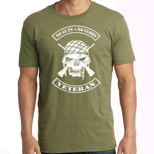 us veteran tshirt no guts no glory
