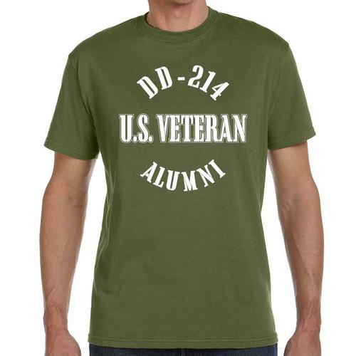 us veteran tshirt dd214 alumni olive drab