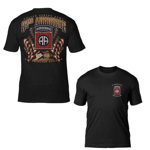 u s army tshirt 82nd airborne flags