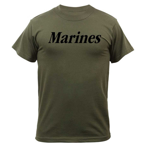 officially licensed marines physical training tshirt