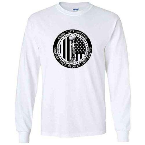 honor their sacrifice memorial day white long sleeve shirt