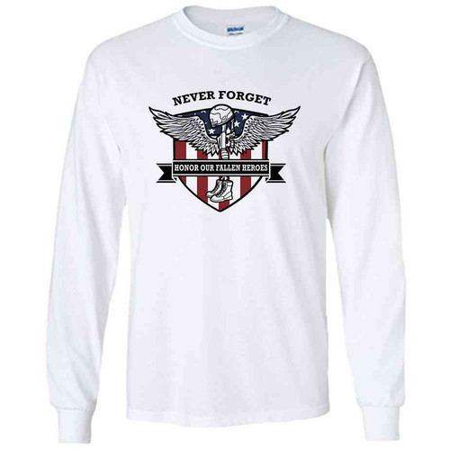 never forget memorial day performance long sleeve shirt