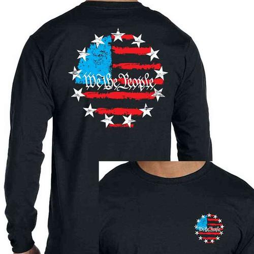 betsy ross 13star long sleeve shirt american flag