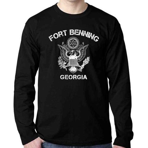 us veteran long sleeve shirt fort benning great seal united states