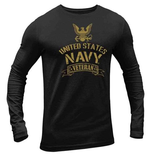 officially licensed us navy veteran long sleeve shirt eagle emblem