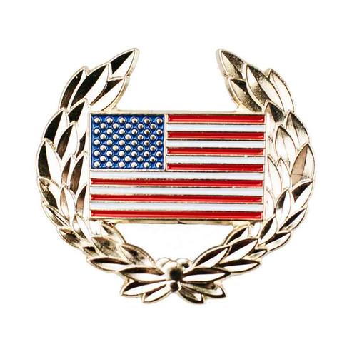 us flag wreathe hat lapel pin