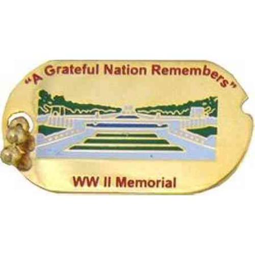 ww ii memorial hat lapel pin