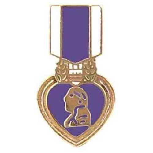 purple heart hat lapel mini pin