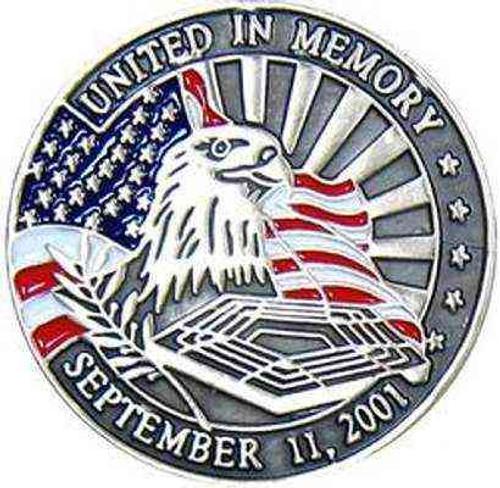 united in memory hat lapel pin