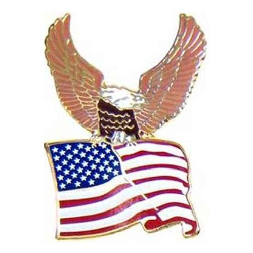 eagle flag hat lapel pin