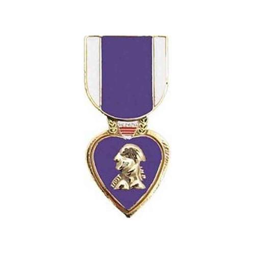 purple heart hat lapel pin
