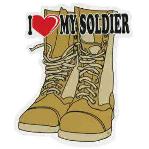 i love my soldier auto magnet