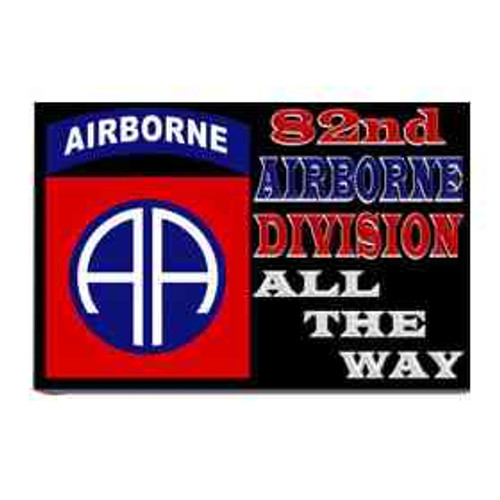 82nd airborne division all way refrigerator magnet