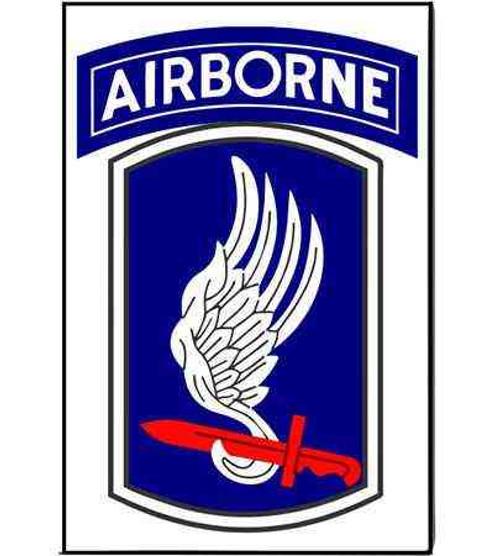 army 173rd airborne brigade refrigerator magnet
