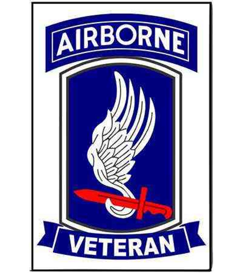 army 173rd airborne brigade veteran refrigerator magnet