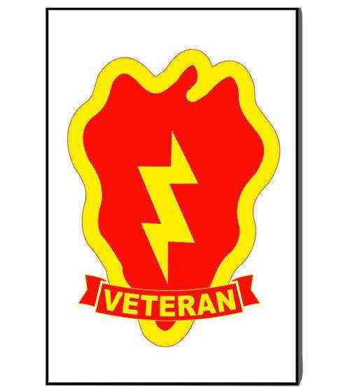 army 25th infantry division veteran refrigerator magnet
