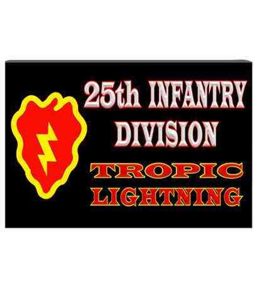 army 25th infantry division tropic lightning refrigerator magnet