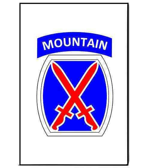army 10th mountain division magnet