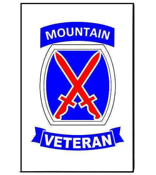 army 10th mountain division veteran magnet