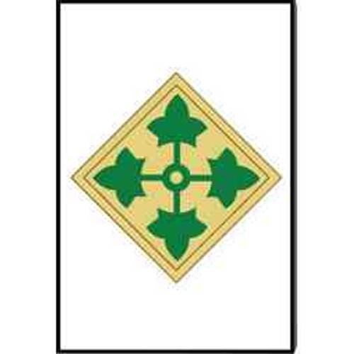 army 4th infantry division refrigerator magnet