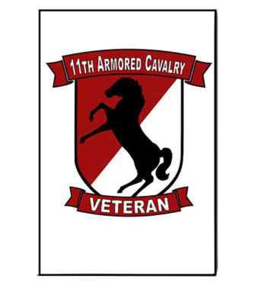 army 11th armored cavalry veteran refrigerator magnet