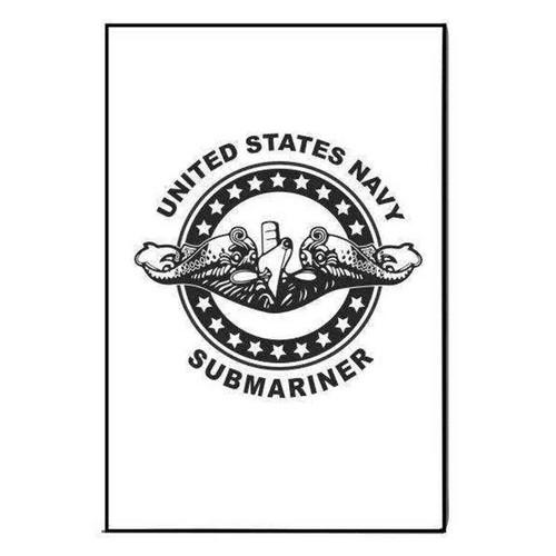 navy submarine badge refrigerator magnet