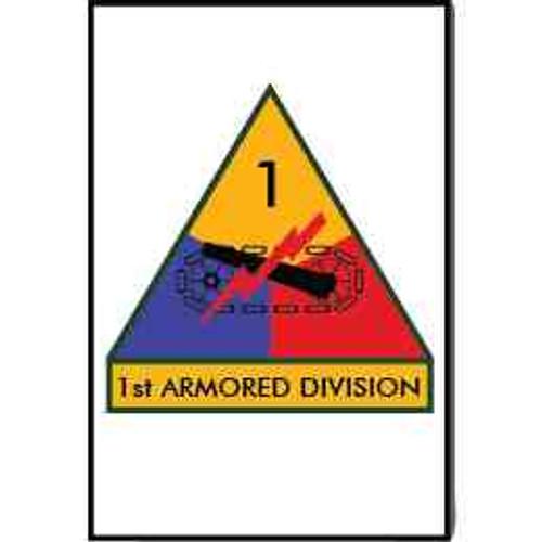 1st armored division refrigerator magnet