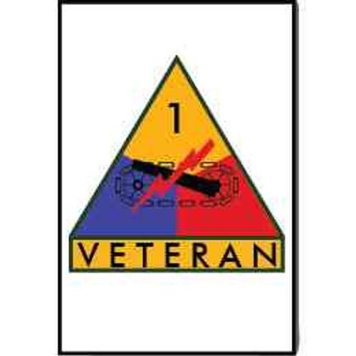 1st armored division veteran refrigerator magnet