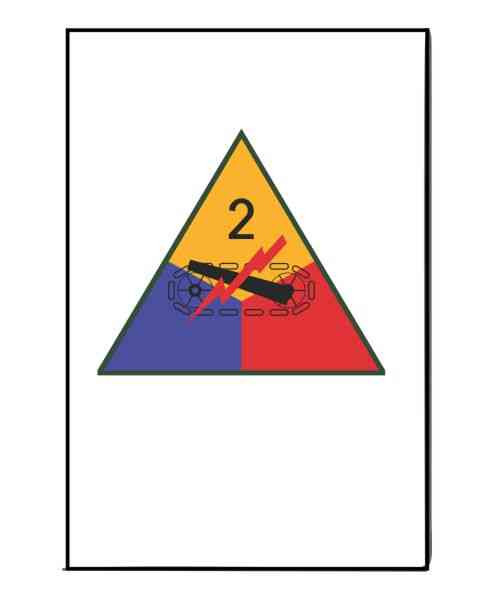 army 2nd armored division refrigerator magnet
