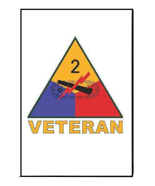 army 2nd armored division veteran refrigerator magnet