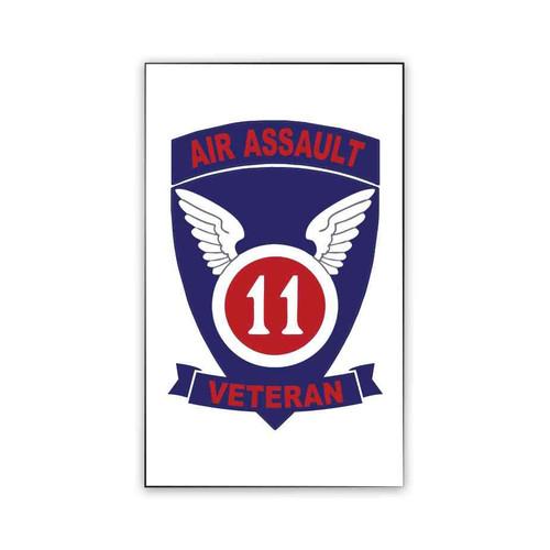 11th air assault veteran magnet