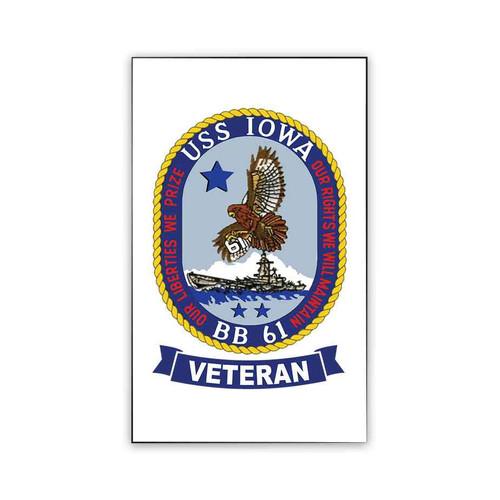 uss iowa veteran magnet