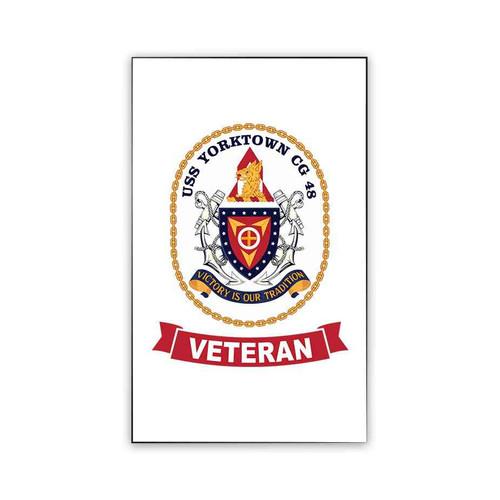 uss yorktown veteran magnet