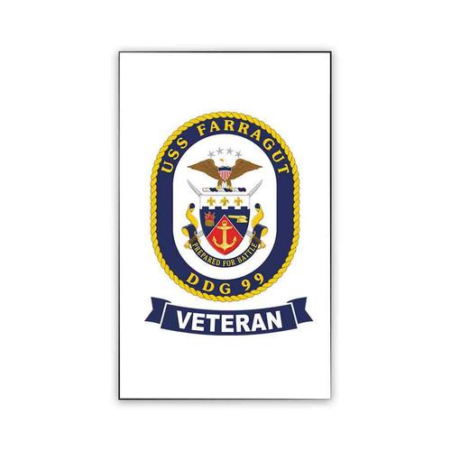 uss farragut veteran magnet