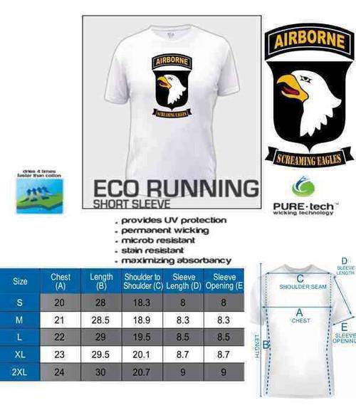 101st airborne screaming eagles ladies eco running shirt